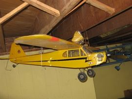 "Piper Cub RC Modeler Air Plane w 76"" Wing Span & Additional Float it - 2 Stroke Engine"