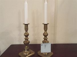 9 BRASS CANDLE HOLDER