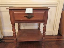 12 WOOD END TABLE
