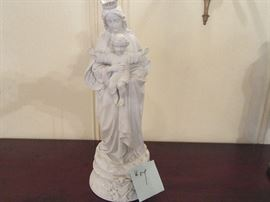 7 STATUE BLESSED MOTHER CHILD