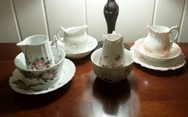 some of the vintage breakfast sets