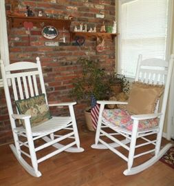 cozy up on the front porch rocking chairs
