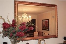Large Gold Mirror and Decorative