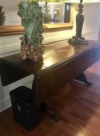 Vintage drop leaf console table