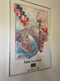 1992 framed fiesta poster