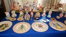 MAUD HUMPHREY COLLECTIBLES, HUMMEL PLATES, HUMMEL CHIMNEY SWEEP, CHRISTMAS PLATES