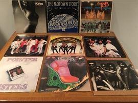 A large assortment of Disco era vinyl!