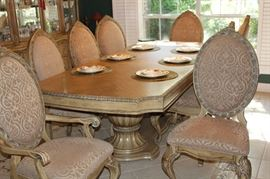 furniture formal dining table with 8 chairs