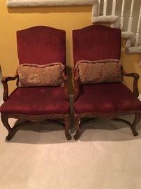 2 Custom Bernhardt Side Chairs