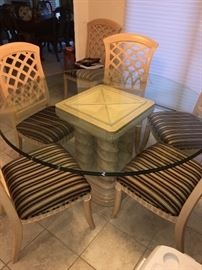 Bernhardt Dining Table with 6 Chairs