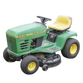 John Deere STX300 5-Speed Tractor Mower: A 1998 John Deere STX38 5-speed tractor mower. The riding mower VIN is MOOSTXH287934. It is equipped with a Kohler engine, model CV13S, serial number 2608917992. For more information about this model using the VIN, please see the link below.