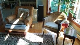 Wicker Chairs, End Table