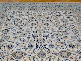 "Hand knotted Iranian rug, approximately 12'2"" X 8'5"""