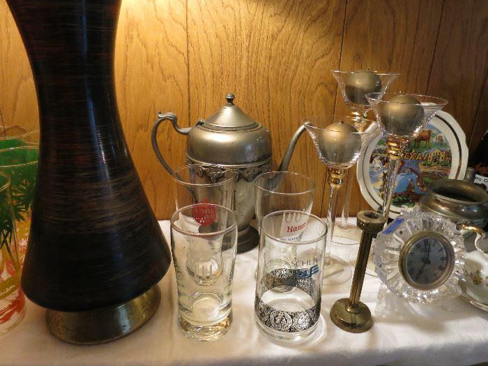 Hamm's, LoneStar and Schlitz Glasses