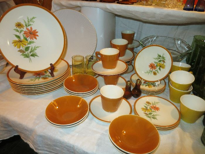 Fun Vintage Plates, Cups And Saucers