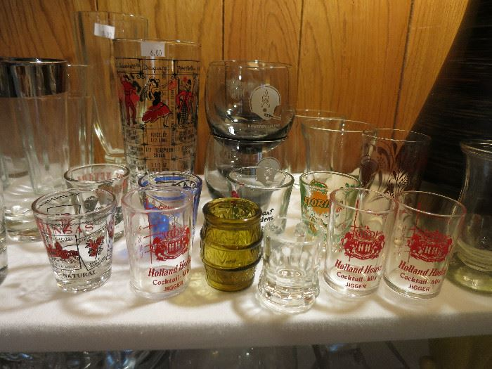Houston Oilers NFL Roly Poly Smokey Gray Cocktail Bar Glasses