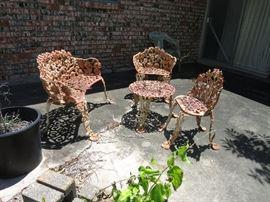 Vintage Cast Iron Four Piece Patio Set