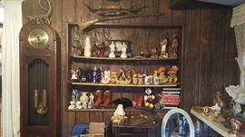 Grandfather clock , longhorns,  collectibles