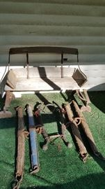 Antique Carriage / buggy and horse yokes