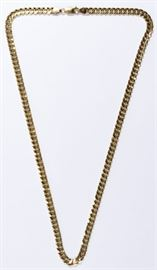 14k Gold Curb Link Necklace