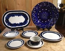 Arabia From Finland plates cups and serving pieces