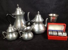 Royal Holland Pewter Tea set And More