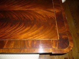 Crotch Mahogany Dining Table