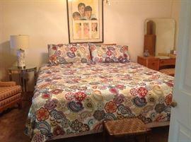 Bedroom set ~ Small vintage mirrored table