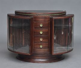 Art Deco rosewood cabinet, bid online at www.fairfieldauction.com