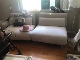 "#58 2 piece futon sofa on metalbase Brnad new! 77"" wide $400"