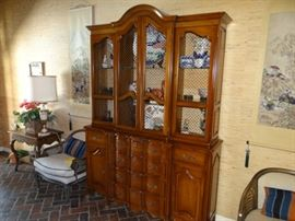China Cabinet with Secretary
