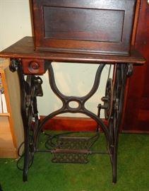 Antique cast iron sewing machine