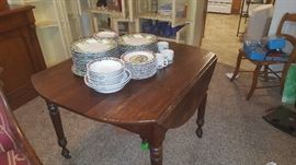 Farm Table and some of the Mary Englebreit Dishes