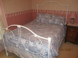 cast iron bed single frame only no mattress