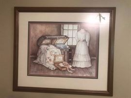 #7  Paula Vaughn 418/725 Print of quilt in chest   $150