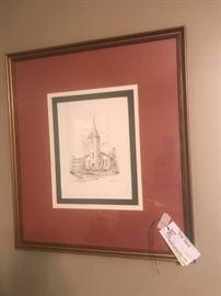 #10  Albert Lane 1st methodist Church print   $75