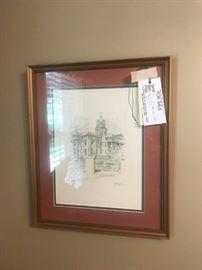 #8   Albert Lane madison court house print   $75