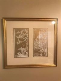 #5 (2) gold cut out frame picture 20x19 $30ea
