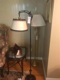 #53 Brass Floor Lamp $75 #54 Black Antique Floor Lamp $75
