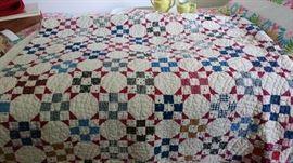 snowball pattern antique quilt