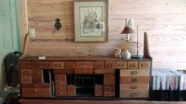 wall mounted antique desk organizer