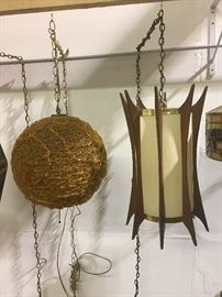 Mid-Century hanging lamps