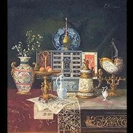 Art Klemm Ernst Oil On Canvas Orientalist