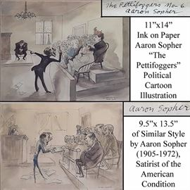 Art Sopher Aaron Pen And Inl American Satirist