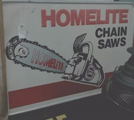 Vintage Homelite Chainsaws' Sign