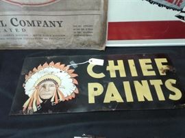 Vintage Chief Sign