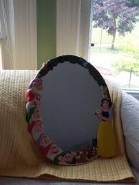 Vintage 1940's Snow White and The Seven Dwarfs mirror