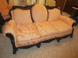 Victorian Couch re-done in Oriental motif