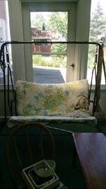 Wrought iron swing