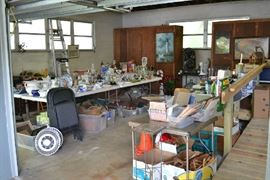 ALL CONTENTS OF GARAGE AND LARGE HOUSE